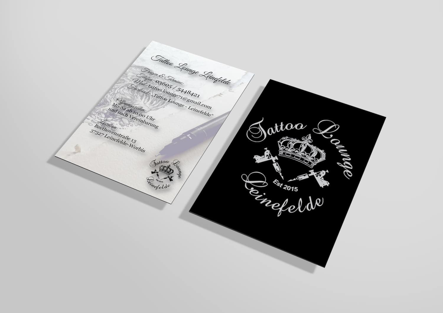 Tattoo Lounge Leinefelde Logo Branding Corporate Design Website Webseite Homepage Shirt druck Stick Merchandise Flyer Visitenkarte Bilder Fotos Fotografie